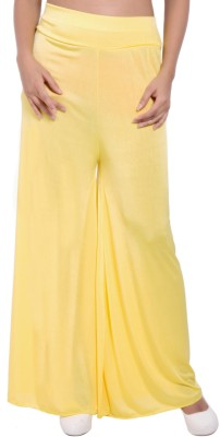 diva boutique Regular Fit Women's Yellow Trousers