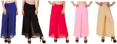 CHIKFAB Regular Fit Women's Blue, Black, Pink, Pink, Beige Trousers