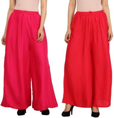 Guru Nanak Fashions Regular Fit Women's Pink, Red Trousers