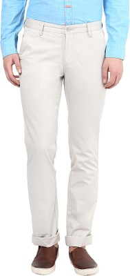 London Bridge Slim Fit Men's White Trousers