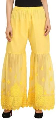 Indiankala4u Regular Fit Women's Yellow Trousers
