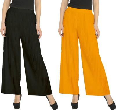 Civilized Showdown Regular Fit Women's Black, Orange Trousers