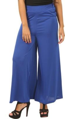 Advika Regular Fit Women,s Blue Trousers