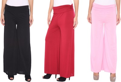 Zadine Regular Fit Women,s Black, Red, Pink Trousers