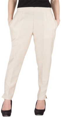 Komal Trading Co Slim Fit Women's Beige Trousers