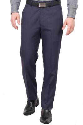 Febulous Slim Fit Men's Blue Trousers