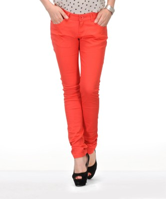 Yepme Regular Fit Women's Orange Trousers at flipkart