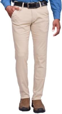 American Noti Skinny Fit Men's White Trousers