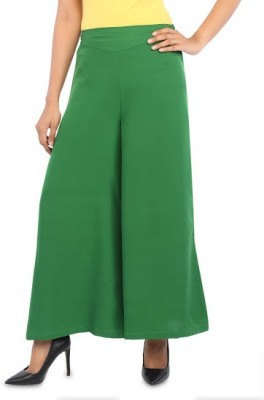 Navyou Regular Fit Women's Green Trousers