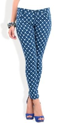 Madaam Slim Fit Women's Blue Trousers