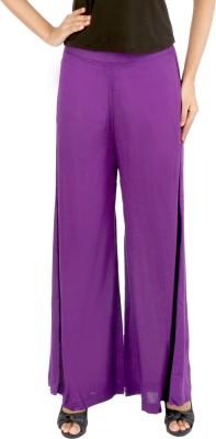 Belinda Regular Fit Women's Purple Trousers