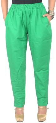 Shopatplaces Regular Fit Women's Green Trousers