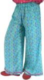 SSMITN Regular Fit Girls Green Trousers