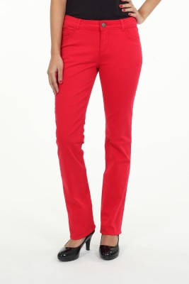 Irene Regular Fit Women's Red Trousers