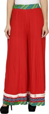Kaaviyaz Regular Fit Women's Red, Green Trousers