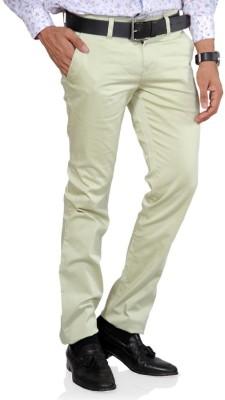 Provogue Slim Fit Men's Green Trousers