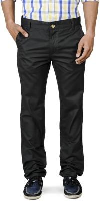 Blimey Slim Fit Men's Black, Grey Trousers