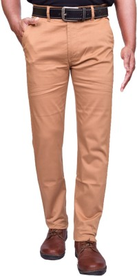 American Noti Slim Fit Mens Yellow Trousers