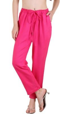 Zoae Regular Fit Women's Pink Trousers