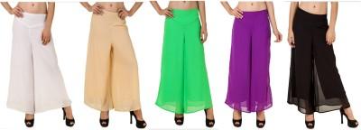 RoseBella Regular Fit Women's White, Beige, Green, Purple, Black Trousers