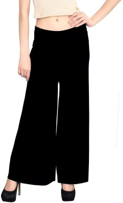Rooliums Regular Fit Womens Black Trousers