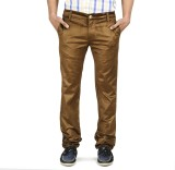 Blimey Slim Fit Men's Brown Trousers
