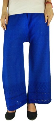 B VOS Regular Fit Women's Blue Trousers