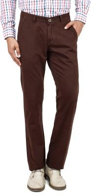 Uber Urban Regular Fit Men's Brown Trousers