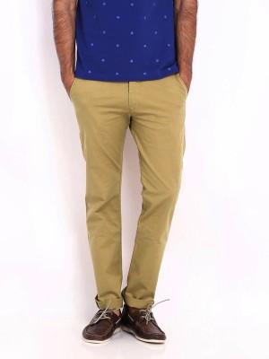AD & AV Regular Fit Men's Beige Trousers