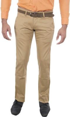Le-Meiux Slim Fit Men's Beige Trousers