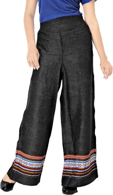 Khushali Regular Fit Women's Black, Multicolor Trousers