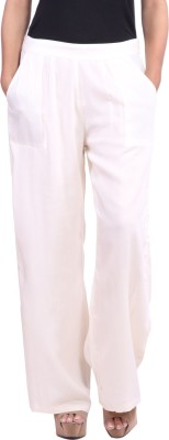 JaipurKurti Regular Fit Women's White Trousers