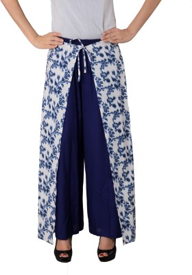 House of Tantrums Regular Fit Women,s Blue, White Trousers