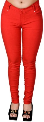 LGC Slim Fit Women's Red Trousers