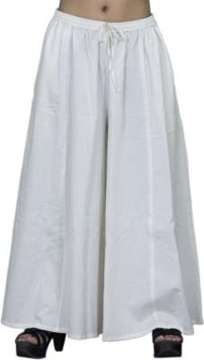 Chhipaprints Regular Fit Women's White Trousers