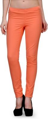 Kiosha Slim Fit Women's Orange Trousers