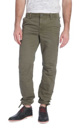 Jack & Jones Regular Fit Men's Dark Green Trousers
