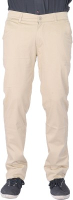 AUSSUM Regular Fit Men's Cream Trousers
