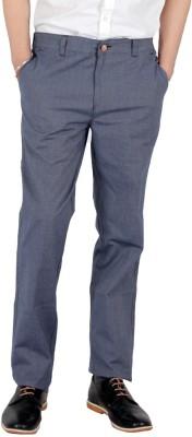Wood Slim Fit Men's Blue Trousers