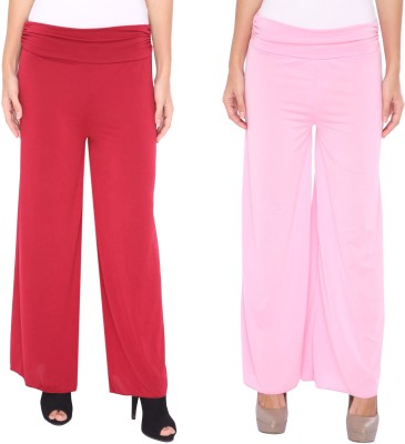 Zadine Regular Fit Women,s Red, Pink Trousers
