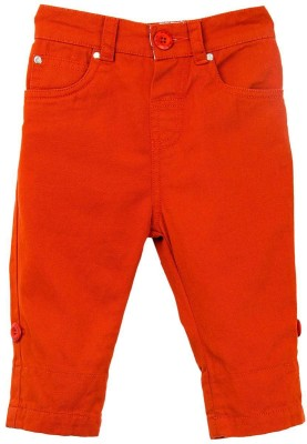 Mom & Me Regular Fit Baby Boys Orange Trousers
