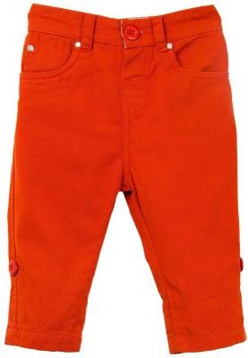 Mom & Me Regular Fit Boy's Orange Trousers