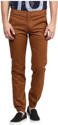 FLAH Slim Fit Men's Brown Trousers