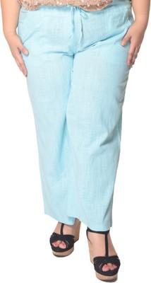 Trendy Divva Regular Fit Women's Blue Trousers