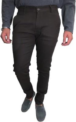 Roadcrack Slim Fit Men,s Grey Trousers