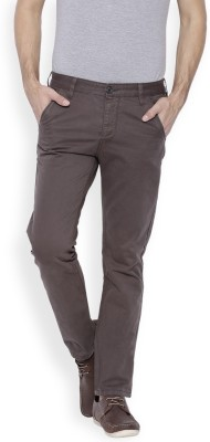 OFFLINE Slim Fit Men,s Brown Trousers