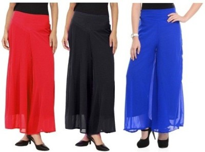 Edge Plus Regular Fit Women's Black, Red, Blue Trousers