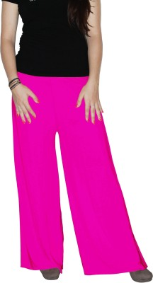 Xarans Regular Fit Womens Pink Trousers