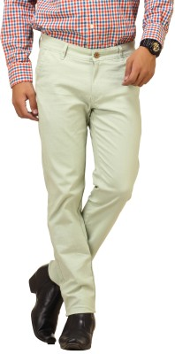 Cottinfab Regular Fit Men's Green Trousers