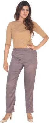 Fast n Fashion Regular Fit Women's Purple Trousers